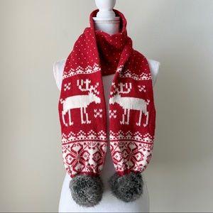 Steve Madden Wool blend & Faux fur scarf